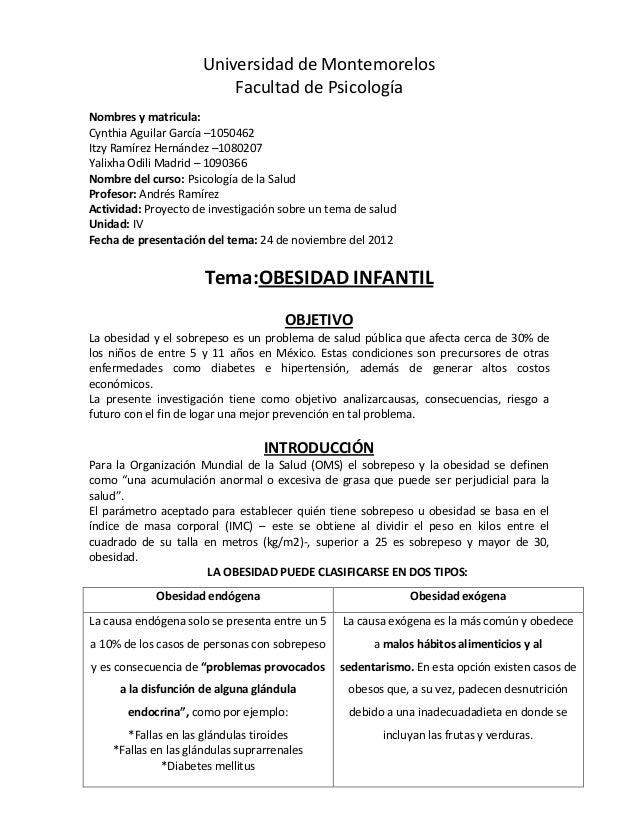 Universidad de Montemorelos                          Facultad de PsicologíaNombres y matricula:Cynthia Aguilar García –105...