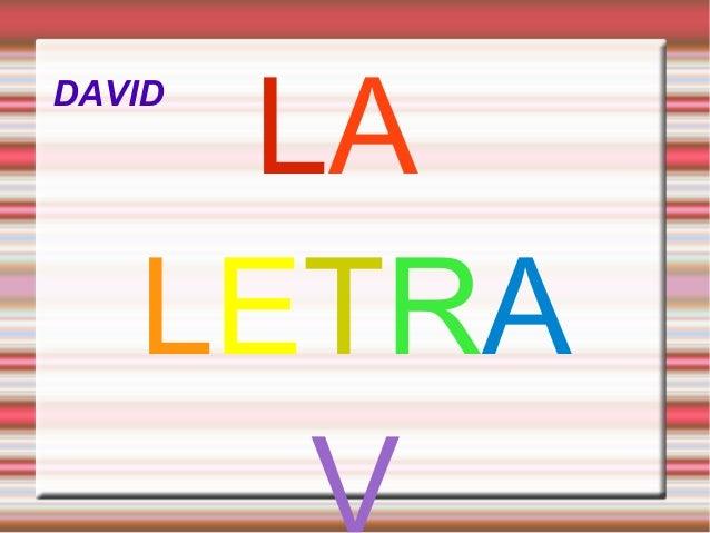 DAVID LA LETRA