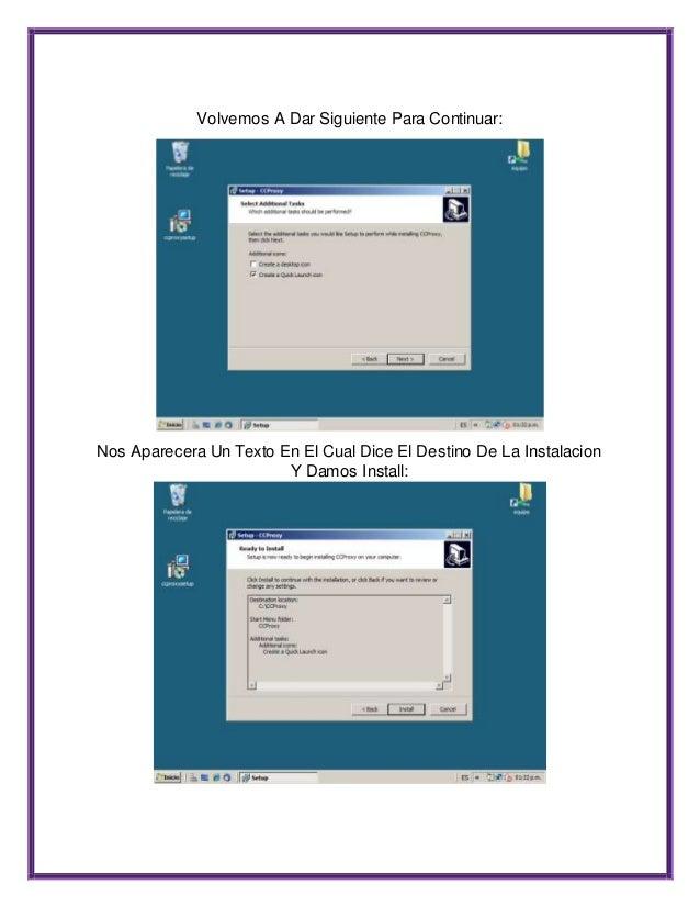 Ccproxy manual configuracion