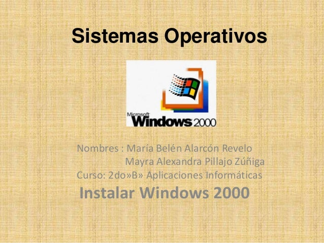 Sistemas Operativos Nombres : María Belén Alarcón Revelo Mayra Alexandra Pillajo Zúñiga Curso: 2do»B» Aplicaciones Informá...