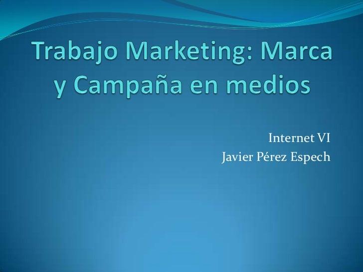 Internet VIJavier Pérez Espech