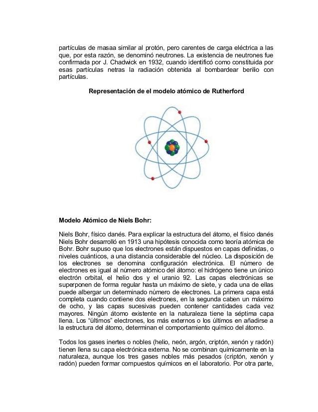 Trabajo Modelo Atomico Y Estructura Cristalina