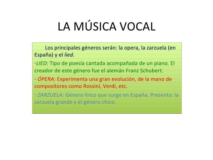 MÚSICA INSTRUMENTAL     -Se mantienen géneros como la sinfonía, el concierto,etc. Y aparecen otros nuevos como el poema si...