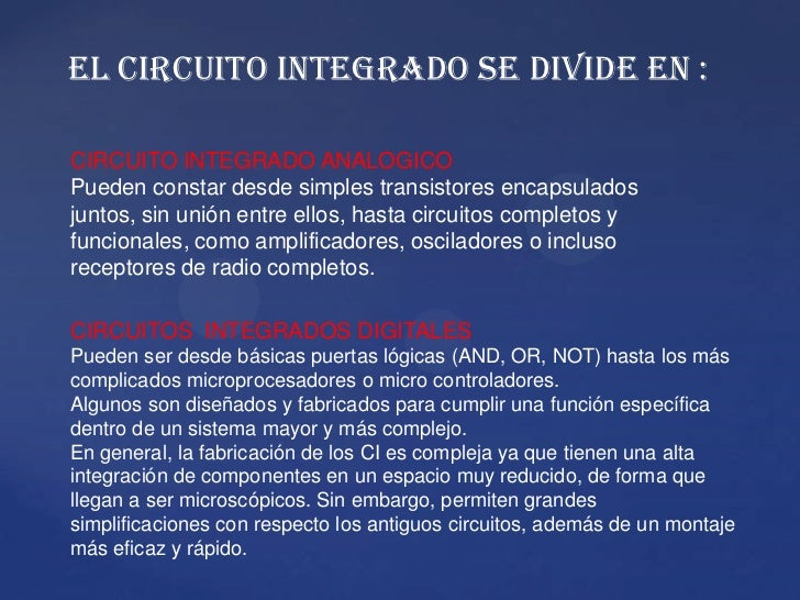 Circuito Not : Circuito integrado