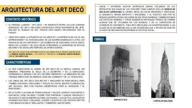 Sintesis de los estilos arquitet nicos carlo andr sosa - Art deco caracteristicas ...
