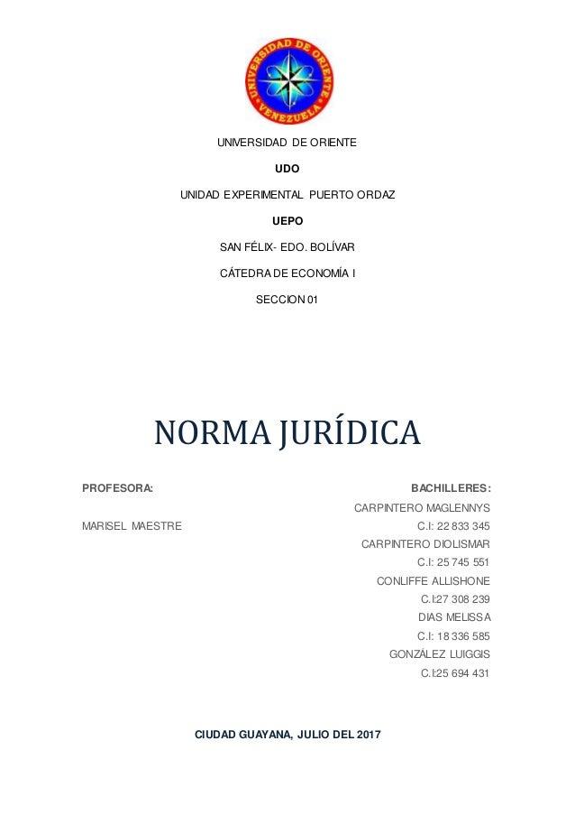Trabajo Norma Juridica