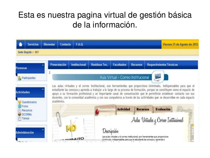 trabajo powert point sobre aula virtual