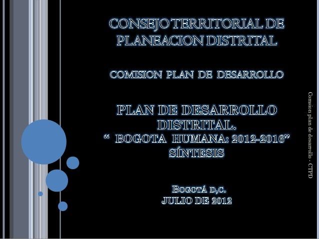 Comsion plan de desarrollo - CTPD