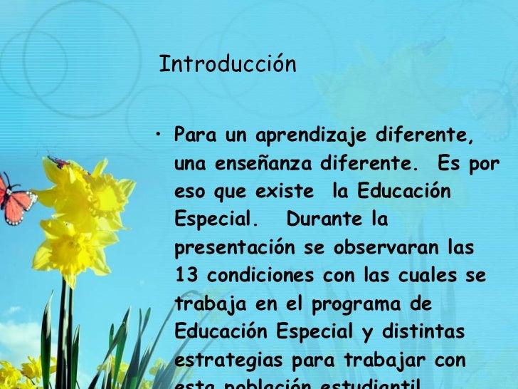 Educacion Especial Definiciones y estrategias Slide 2