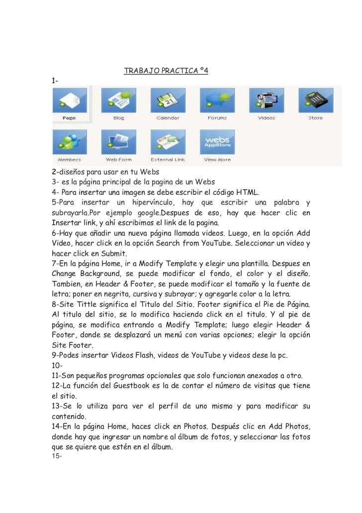 TRABAJO PRACTICA º4<br />1-<br />2-diseños para usar en tu Webs<br />3- es la página prin...