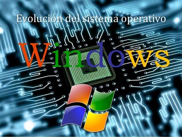 Evolución del sistema operativo Windows