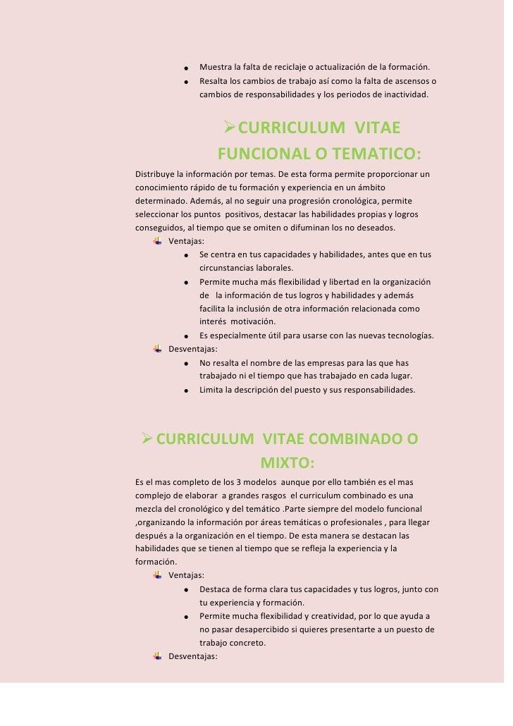 Trabajo practico curriculum vitae