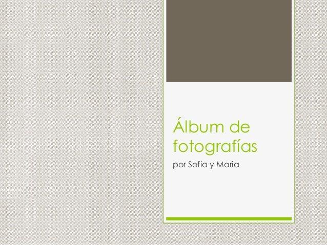 Álbum de fotografías por Sofia y Maria