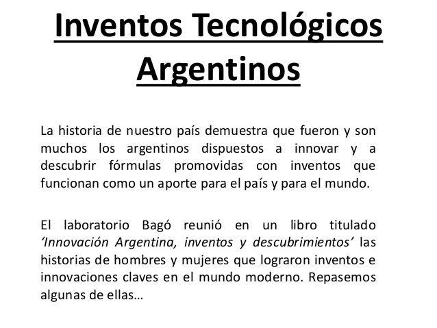 inventos tecnologicos argentinos