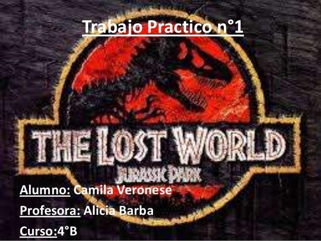 Trabajo Practico n°1 Alumno: Camila Veronese Profesora: Alicia Barba Curso:4°B