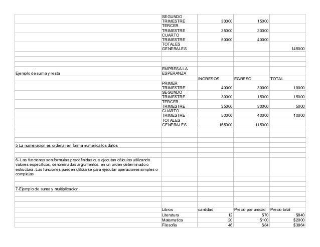 Trabajo practico nº 2 OPERACIONES BASICAS CON HOJA DE CALCULO