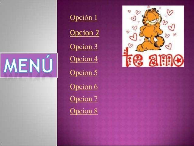 Opción 1Opcion 2Opcion 3Opcion 4Opcion 5Opcion 6Opcion 7Opcion 8