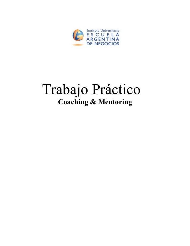 Trabajo Práctico Coaching & Mentoring