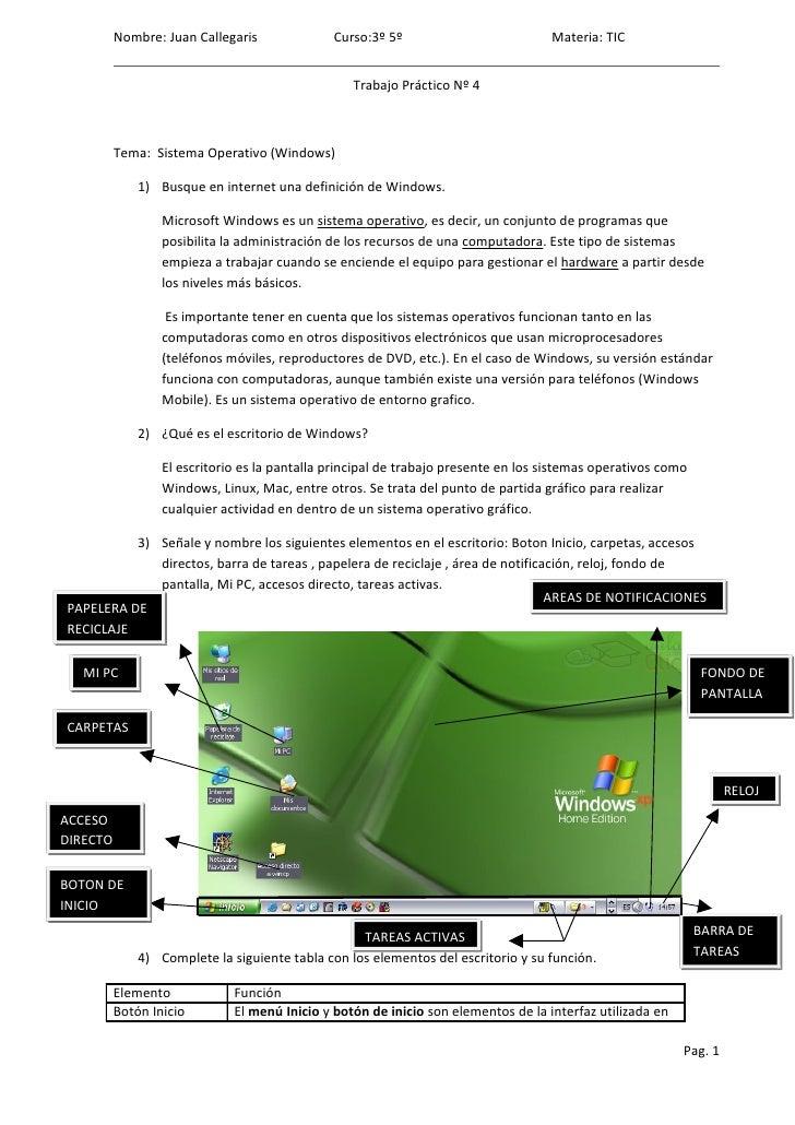 Nombre: Juan Callegaris              Curso:3º 5º                          Materia: TIC                                    ...