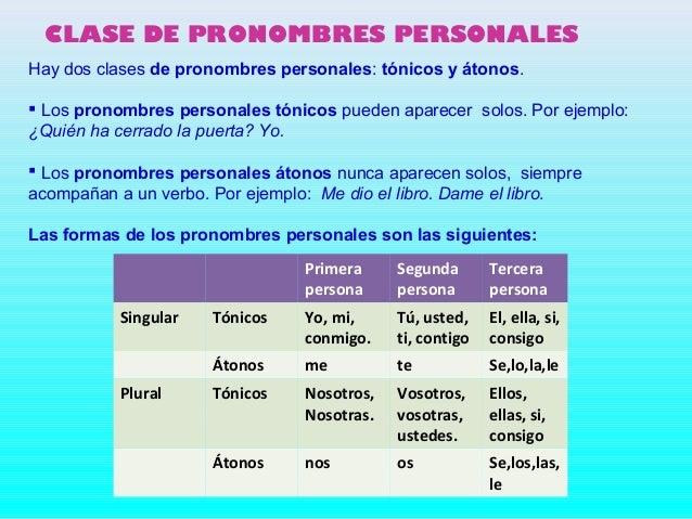 Resultado de imagen de pronombres personales