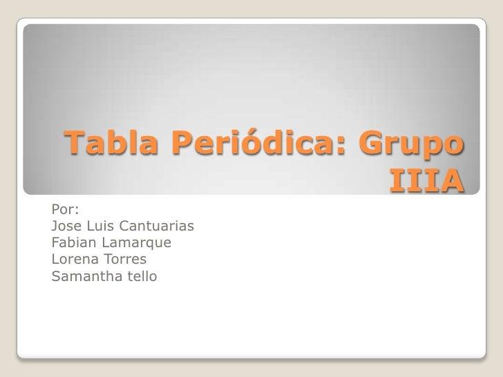 Trabajo quimica terminado 9th lorena torres fabian samantha jose tabla peridica grupo iiia por jose luis cantuarias fabian lamarque lorena torres urtaz Image collections