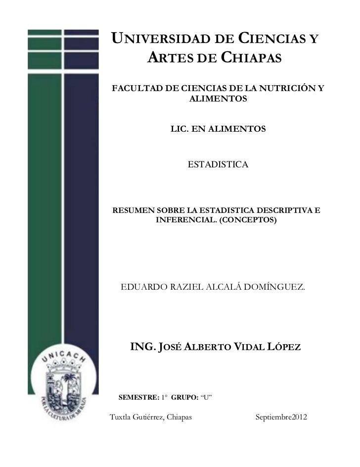 UNIVERSIDAD DE CIENCIAS Y    ARTES DE CHIAPASFACULTAD DE CIENCIAS DE LA NUTRICIÓN Y             ALIMENTOS                 ...