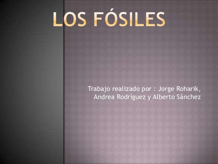 Trabajo realizado por : Jorge Roharik,  Andrea Rodríguez y Alberto Sánchez