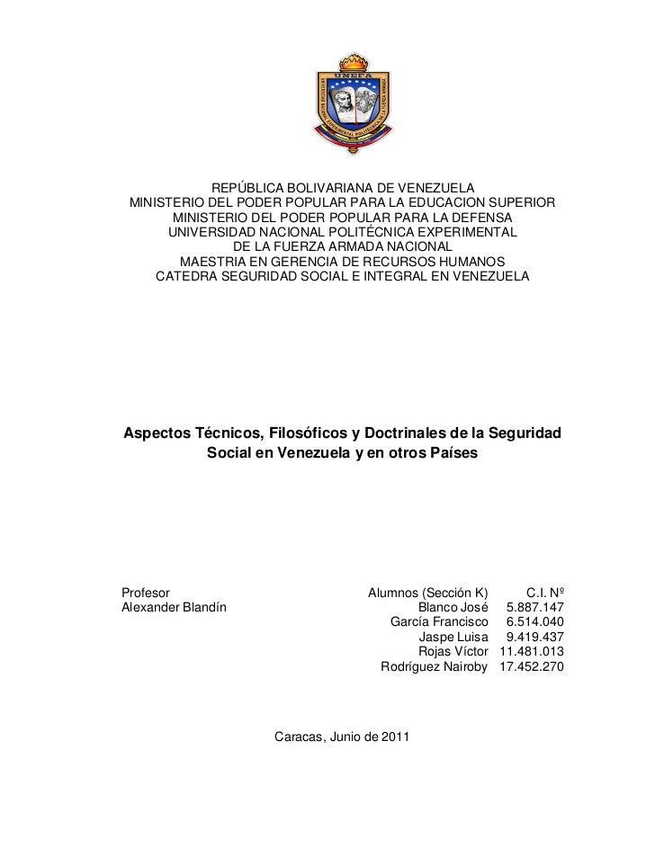 REPÚBLICA BOLIVARIANA DE VENEZUELA MINISTERIO DEL PODER POPULAR PARA LA EDUCACION SUPERIOR       MINISTERIO DEL PODER POPU...