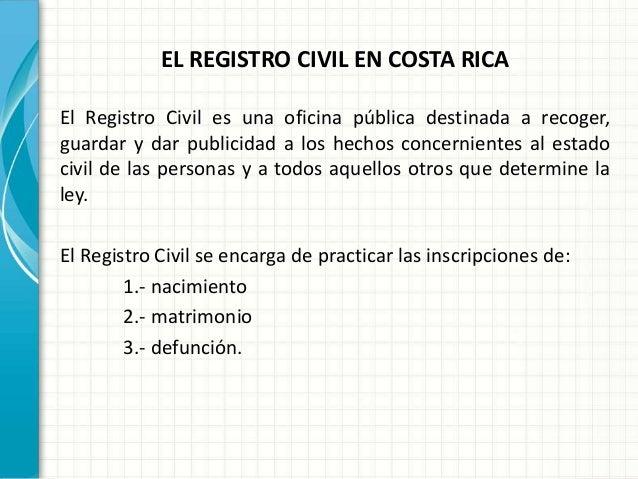 Matrimonio Catolico Costa Rica : Trabajo sobre el registro civil