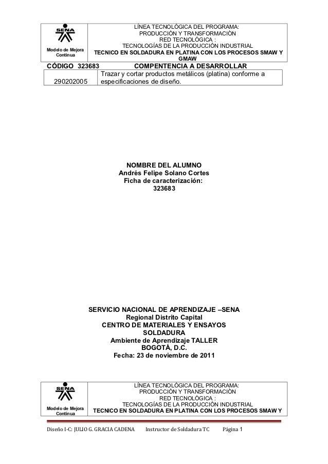 LÍNEA TECNOLÓGICA DEL PROGRAMA:                                  PRODUCCIÓN Y TRANSFORMACIÒN                              ...
