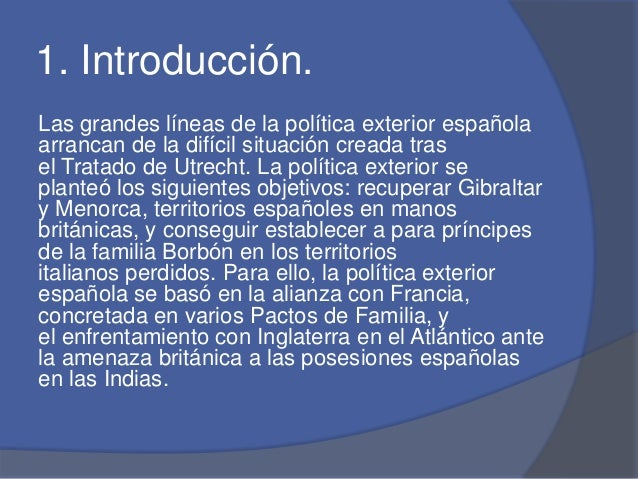 Pol tica externa de espa a for La politica exterior de espana