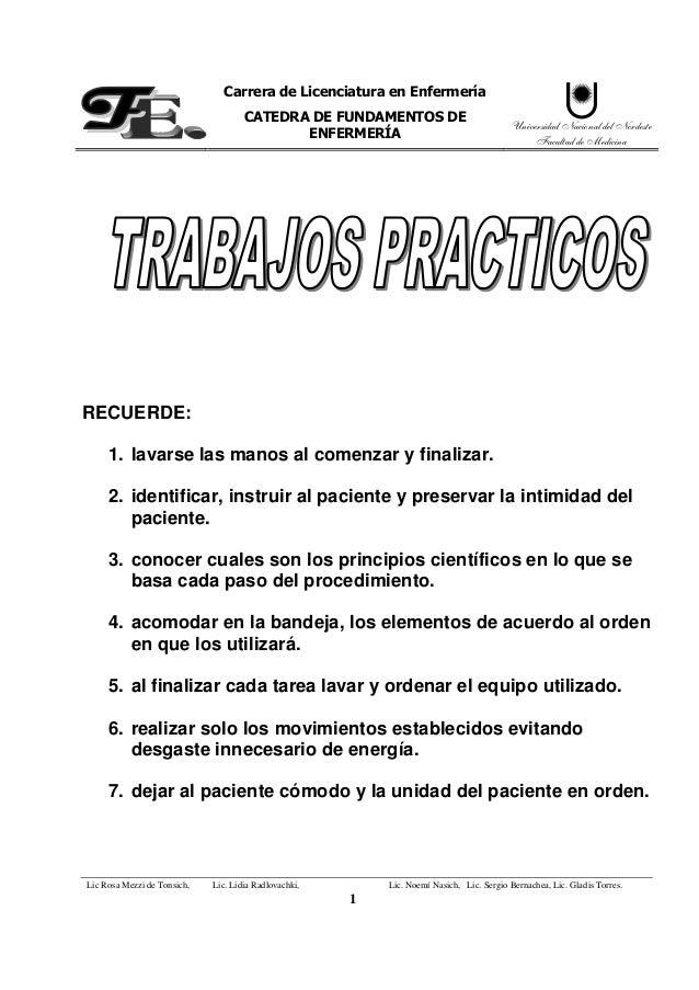 Trabajos prácticos (practicas de enfermería con fundamentos)