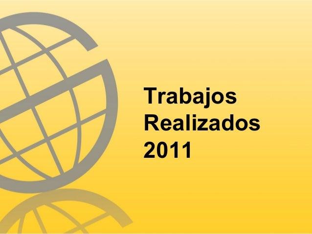TrabajosRealizados2011