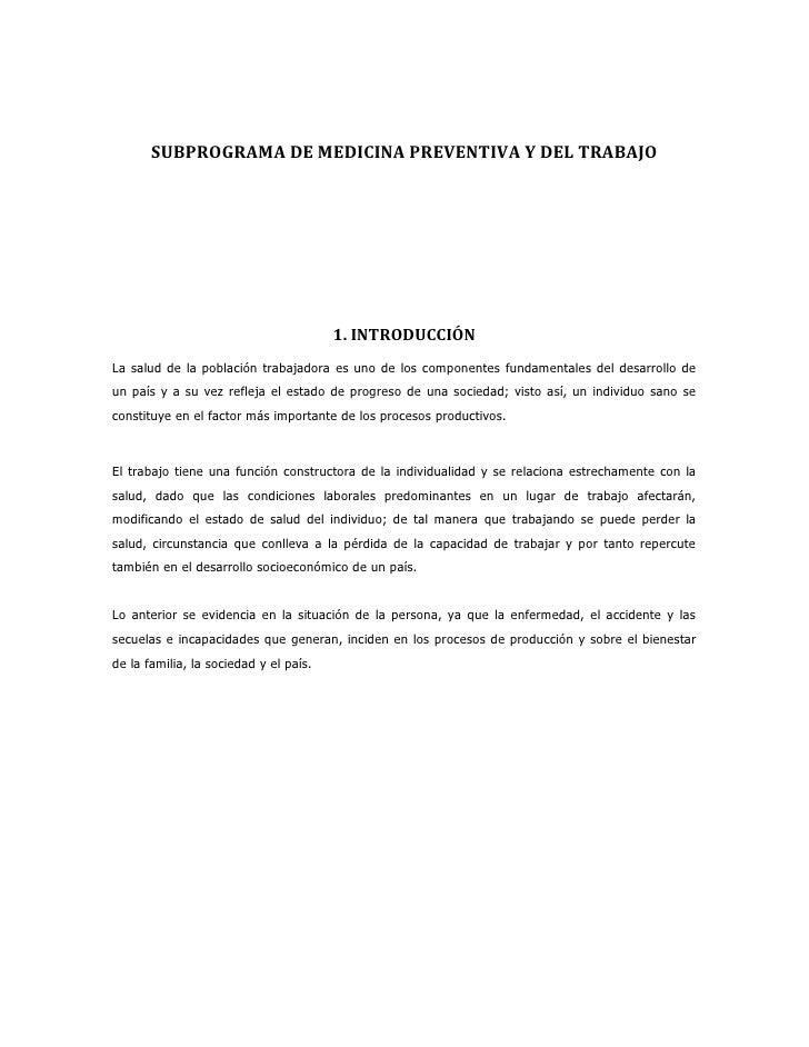 subprogramas de salud ocupacional pdf