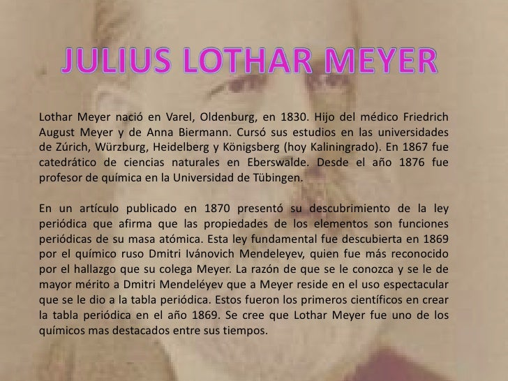11 - Tabla Periodica Julius Lothar Meyer