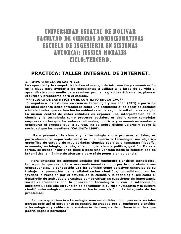 UNIVERSIDAD ESTATAL DE BOLIVAR        FACULTAD DE CIENCIAS ADMINISTRATIVAS          ESCUELA DE INGENIERIA EN SISTEMAS     ...