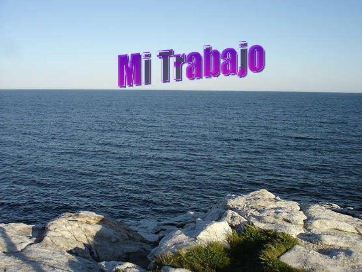 Océano Atlántico sobre : Mi Trabajo