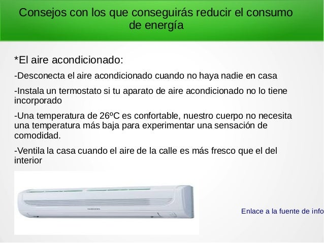 Consumo energético responsable. Slide 3