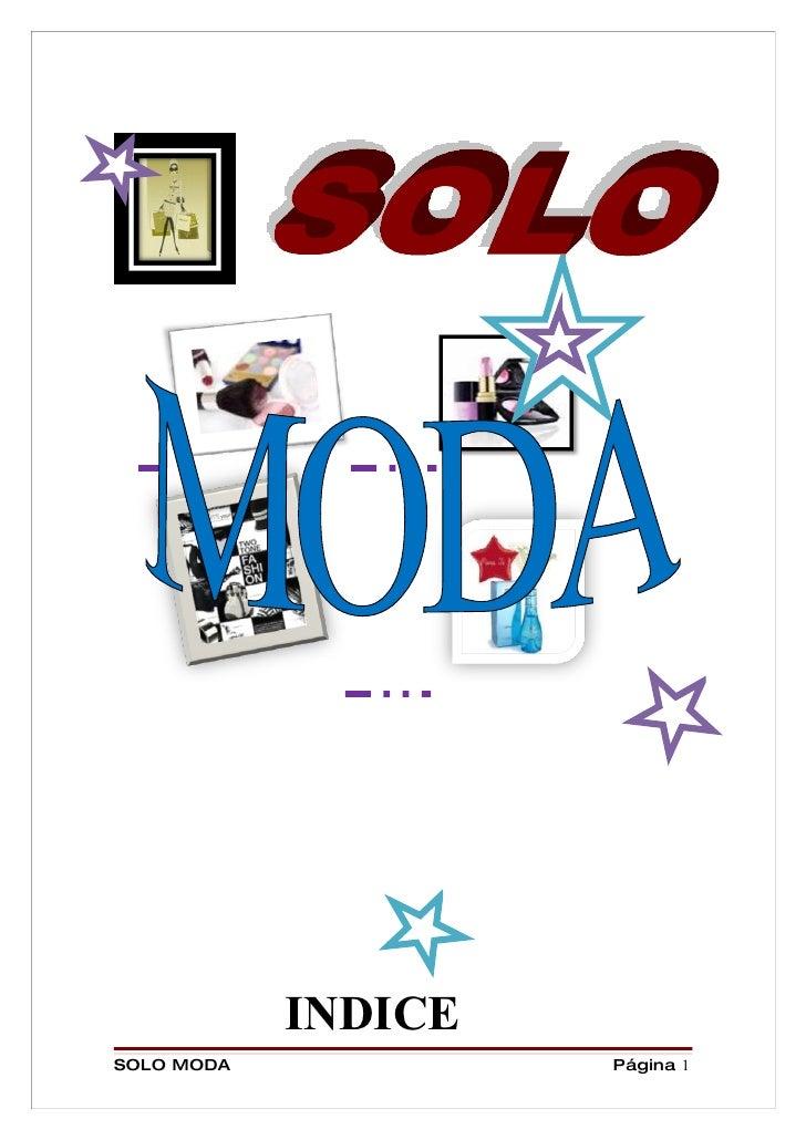 INDICE SOLO MODA            Página 1