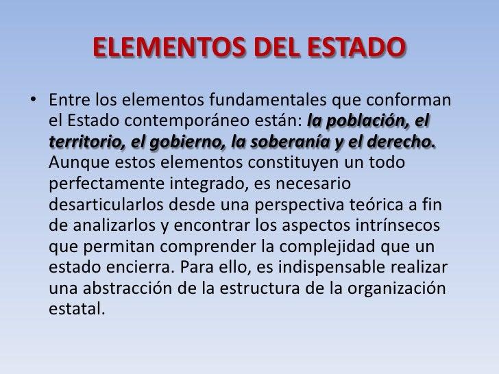 Teoria del estado elementos del estado pa s costa rica for Que es el estilo contemporaneo
