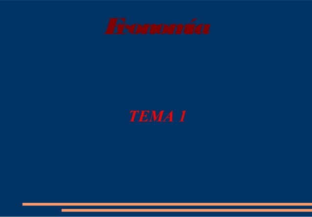 Economía TEMA 1