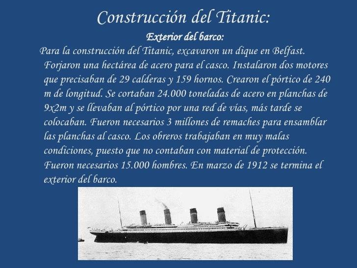 Trabajo titanic - Construccion del titanic ...