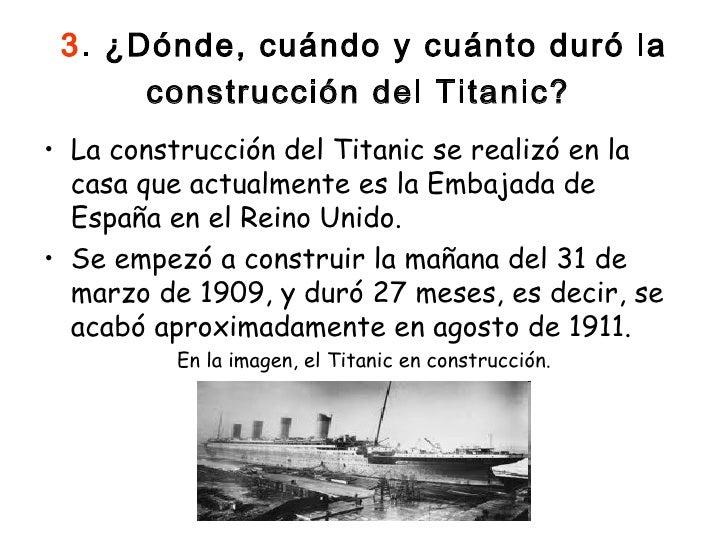 Trabajo titanic 1 - Construccion del titanic ...