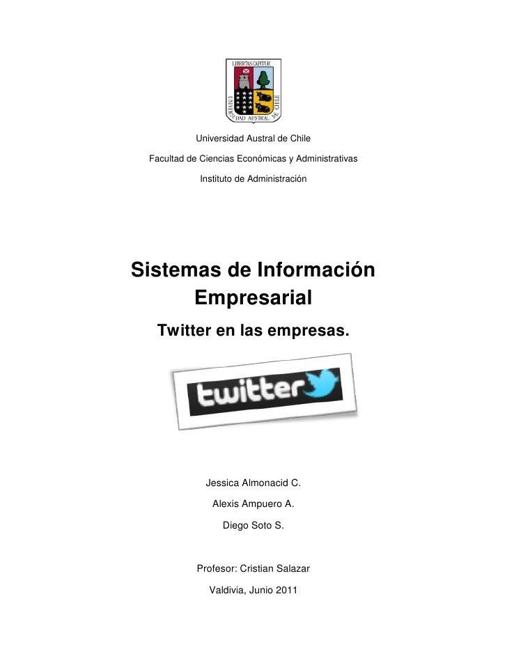 Universidad Austral de Chile<br />Facultad de Ciencias Económicas y Administrativas<br />Instituto de Administración<br />...