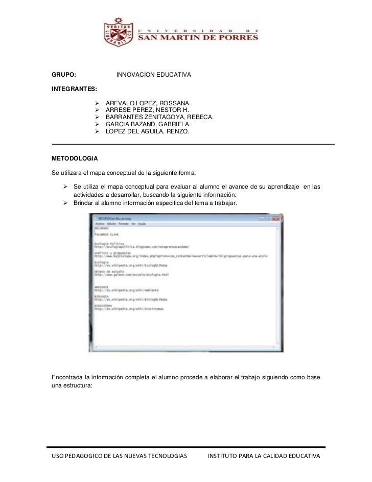 1062787-54282300<br />GRUPO:INNOVACION EDUCATIVA<br />INTEGRANTES:<br />AREVALO LOPEZ, ROSSANA.<br />ARRESE PEREZ, NESTOR ...