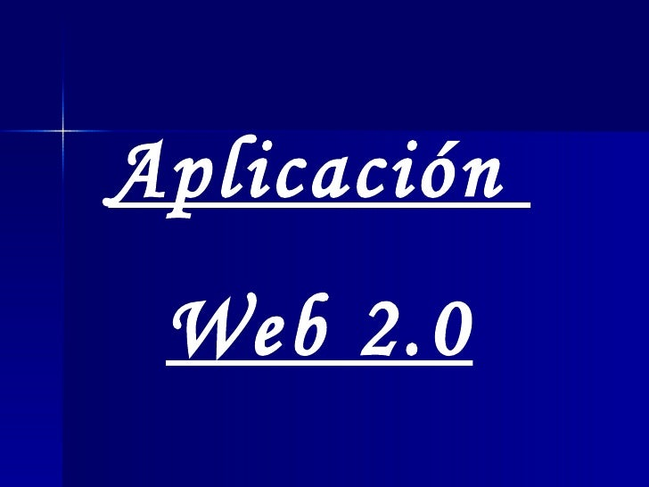 Aplicación  Web 2.0