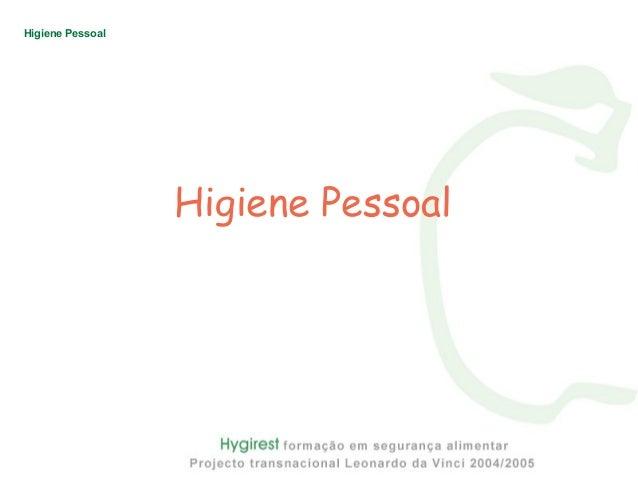 Trabalhadores higiene pessoal Slide 2