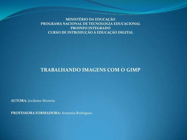 MINISTÉRIO DA EDUCAÇÃO                PROGRAMA NACIONAL DE TECNOLOGIA EDUCACIONAL                              PROINFO INT...