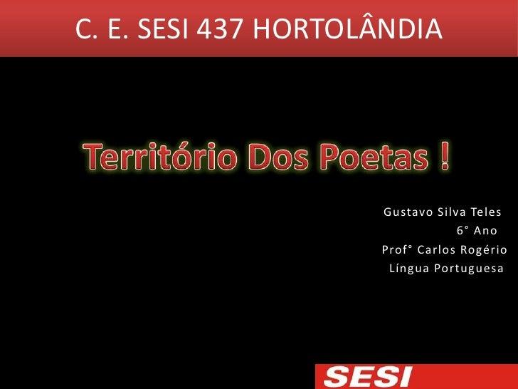 C. E. SESI 437 HORTOLÂNDIA                     Gustavo Silva Teles                                 6° Ano                 ...