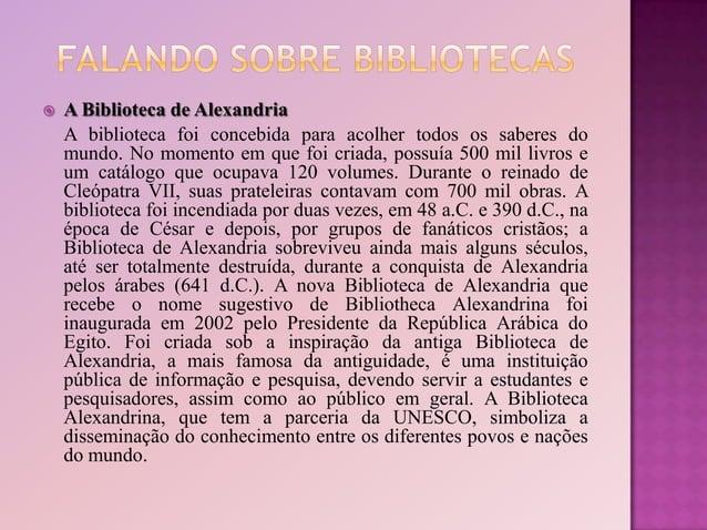  A Biblioteca Nacional, também chamada de Biblioteca Nacional do Rio de Janeiro, é a depositária do patrimônio bibliográf...